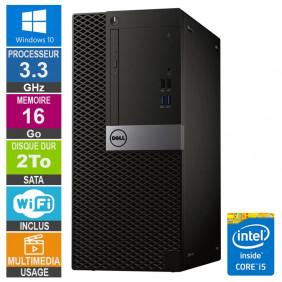 PC Dell Optiplex 5040 MT i5-6400 3.30GHz 16Go/2To Wifi W10