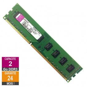 Barrette Mémoire 2Go RAM DDR3 Kingston KY996D-ELD PC3-8500U 1066MHz 2Rx8