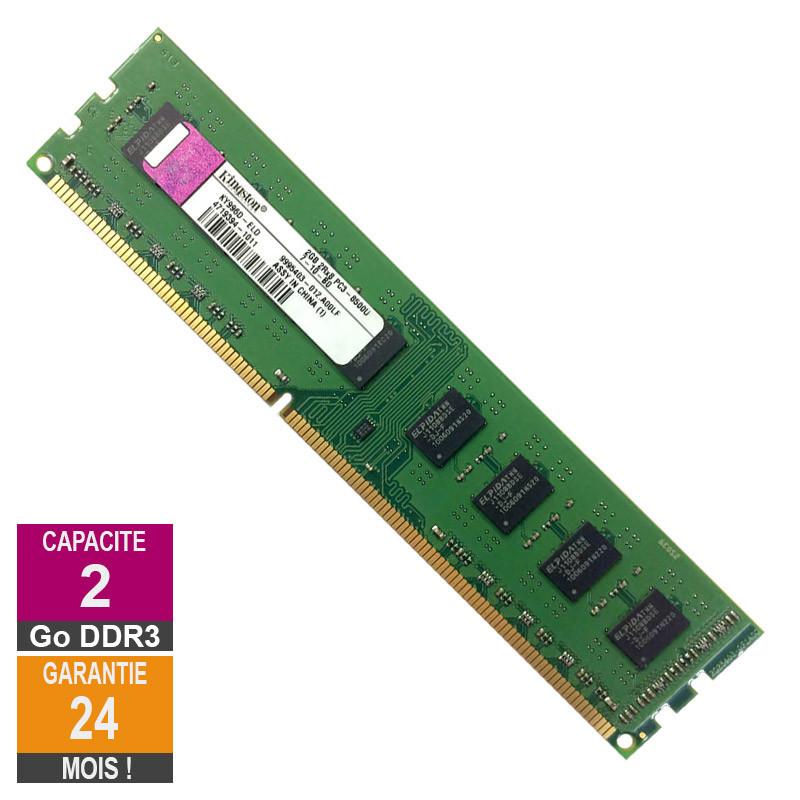 Barrette Mémoire 2Go RAM DDR3...