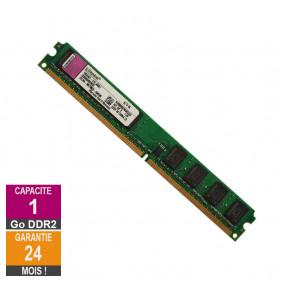 Barrette Mémoire 1Go RAM DDR2 Kingston KVR800D2N5K2/2G Low DIMM PC2-6400U