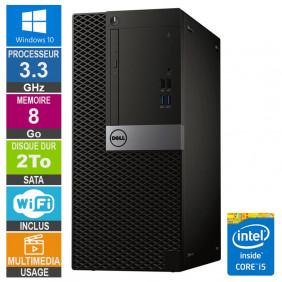 PC Dell Optiplex 7040 MT i5-6400 3.30GHz 8Go/2To Wifi W10
