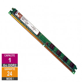 Barrette Mémoire 1Go RAM DDR2 Kingston Low DIMM PC2-5300U