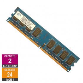 Barrette Mémoire 2Go RAM DDR2 Nanya NT2GT64U8HD0BY-AD DIMM PC2-6400U