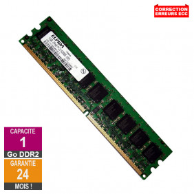 Barrette Mémoire 1Go RAM DDR2 Elpida EBE11ED8AGWA-6E-E DIMM PC2-5300E