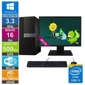 PC Dell Optiplex 7040 MT i5-6400 3.30GHz 16Go/500Go Wifi W10 + Ecran 22
