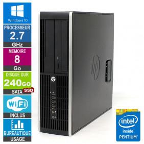 PC HP Elite 8200 SFF G630 2.70GHz 8Go/240Go SSD Wifi W10