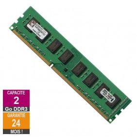 Barrette Mémoire 2Go RAM DDR3 Kingston KVR1066D3N7/2G DIMM PC3-8500U