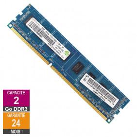 Barrette Mémoire 2Go RAM DDR3 Ramaxel RMR1870EF48E8W DIMM PC3-10600U