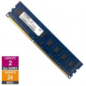 RAM Memory 2GB DDR3 Elpida EBJ21UE8BDF0-DJ-F PC3-10600U 1333MHz 2Rx8