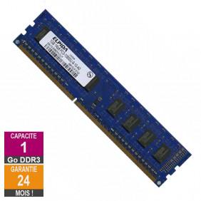Barrette Mémoire 1Go RAM DDR3 Elpida EBJ10UE8BDF0-DJ-F PC3-10600U 1333MHz 1Rx8