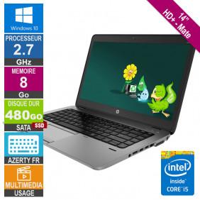 "PC Portable 14"" HP EliteBook 840 G2 Core i5 2.7GHz 8Go/480Go SSD W10 AZERTY FR Rétro"