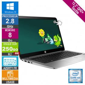 "13"" HP EliteBook 1030 G1 2.8GHz 8Go/250Go SSD W10 AZERTY FR Rétro QHD+ Tactile"
