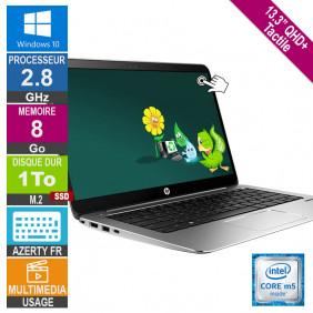 "13"" HP EliteBook 1030 G1 2.8GHz 8Go/1To SSD W10 AZERTY FR Rétro QHD+ Tactile"