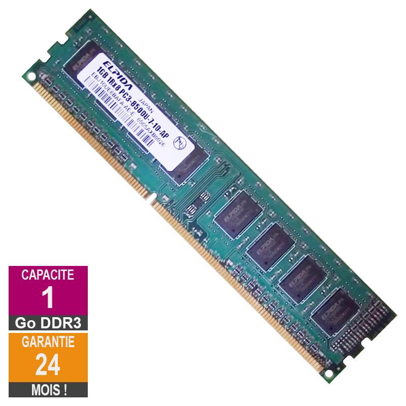 Barrette Mémoire 1Go RAM DDR3 Elpida...