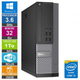 PC Dell 7020 SFF i5-4570 3.60GHz 32Go/1To Wifi W10