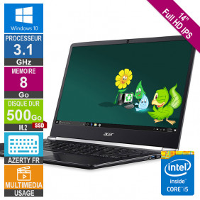 """ACER 14"""" SF514-51 Core i5 3.1GHz 8Go/500Go SSD M.2 FHD IPS W10 AZERTY"""