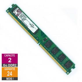 Barrette Mémoire 2Go RAM DDR2 Kingston KVR667D2N5/2G LP DIMM PC2-5300U 2Rx8