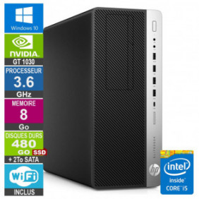 PC Gamer LPG-800G3 i5-6500 3.60GHz 8Go/480Go SSD + 2To/GT 1030