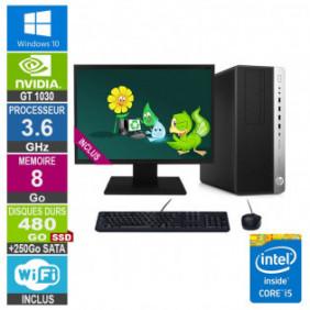 """PC Gamer LPG-800G3 i5-6500 3.60GHz 8Go/480Go SSD + 250Go/GT 1030/24"""""""