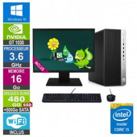 """PC Gamer LPG-800G3 i5-6500 3.60GHz 16Go/480Go SSD + 500Go/GT 1030/24"""""""