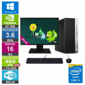"""PC Gamer LPG-800G3 i5-6500 3.60GHz 16Go/480Go SSD + 1To/GT 1030/24"""""""