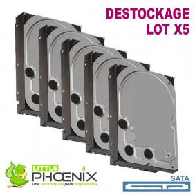 """Lot de 5x Disques Durs 3.5"""" SATA 7200RPM pour PC de bureau - Destockage"""