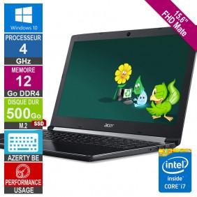 "15.6"" ACER A515-51 i7-8550U 4GHz 12Go/500Go SSD M.2 FHD W10 AZERTY BE"