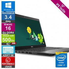 "14"" Dell Latitude 7480 i7-6600U 3.44GHz 16Go/500Go SSD Tactile W10 AZERTY BE"