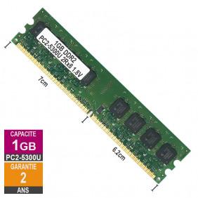 1Go Barrette Mémoire RAM PC2-5300U 2Rx8