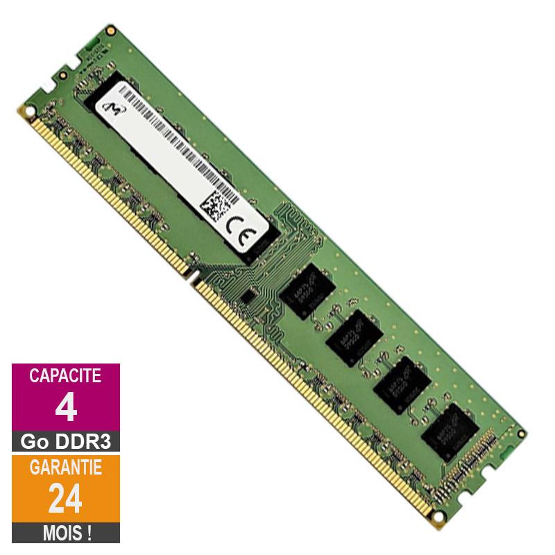 Barrette Mémoire 4Go RAM DDR3 Micron...