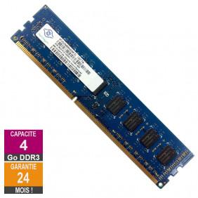 Barrette Mémoire 4Go RAM DDR3 Nanya NT4GC64B8HG0NF-DI PC3-12800U 1600MHz 2Rx8