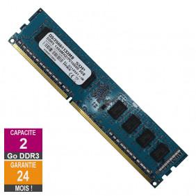 Barrette Mémoire 2Go RAM DDR3 SQP D3/25664133MB DIMM PC3-10600U 1333MHz 1Rx8