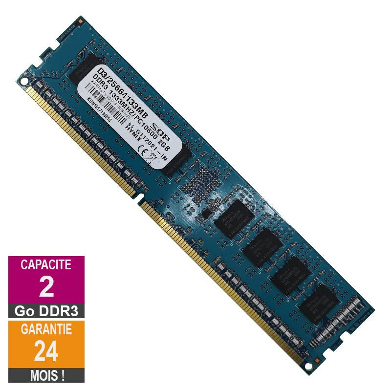 Barrette Mémoire 2Go RAM DDR3 SQP...