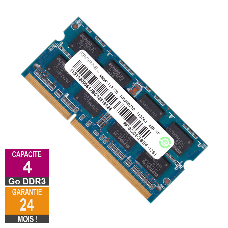 RAM Memory 4GB DDR3 Ramaxel...
