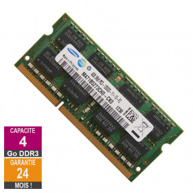 Barrette Mémoire 4Go RAM DDR3 Samsung M471B5273CH0-CK0 SO-DIMM PC3-12800 1600MHz 2Rx8