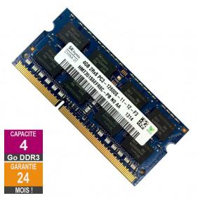 Barrette Mémoire 4Go RAM DDR3 Hynix HMT351S6EFR8C-PB SO-DIMM PC3-12800 1600MHz 2Rx8