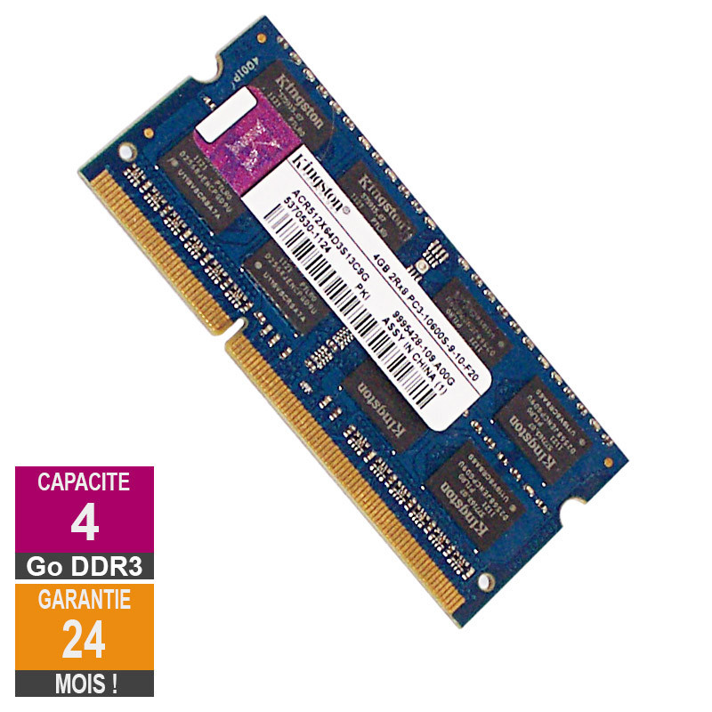 RAM Memory 4GB DDR3 Kingston...