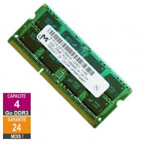RAM Memory 4GB DDR3 Micron MT16JSF51264HZ-1G4D1 SO-DIMM PC3-10600 1333MHz 2Rx8