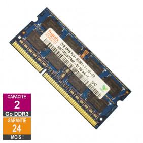 Barrette Mémoire 2Go RAM DDR3 Hynix HMT125S6TFR8C-G7 SO-DIMM PC3-8500 1066MHz 2Rx8