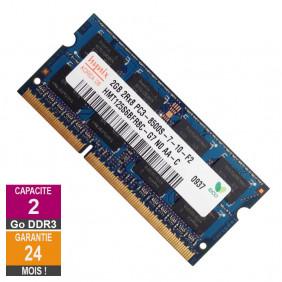 Barrette Mémoire 2Go RAM DDR3 Hynix HMT125S6BFR8C-G7 SO-DIMM PC3-8500 1066MHz 2Rx8