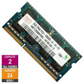 Barrette Mémoire 2Go RAM DDR3 Hynix HMT125S6BFR8C-H9 SO-DIMM PC3-10600 1333MHz 2Rx8