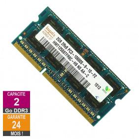 Barrette Mémoire 2Go RAM DDR3 Hynix HMT125S6TFR8C-H9 SO-DIMM PC3-10600 1333MHz 2Rx8