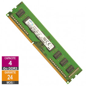 Barrette Mémoire 4Go RAM DDR3 Samsung M378B5173DB0-CK0 DIMM PC3-12800U
