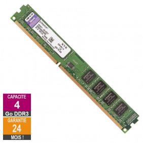 Barrette Mémoire 4Go RAM DDR3 Kingston KVR16N11/4 DIMM PC3-12800U