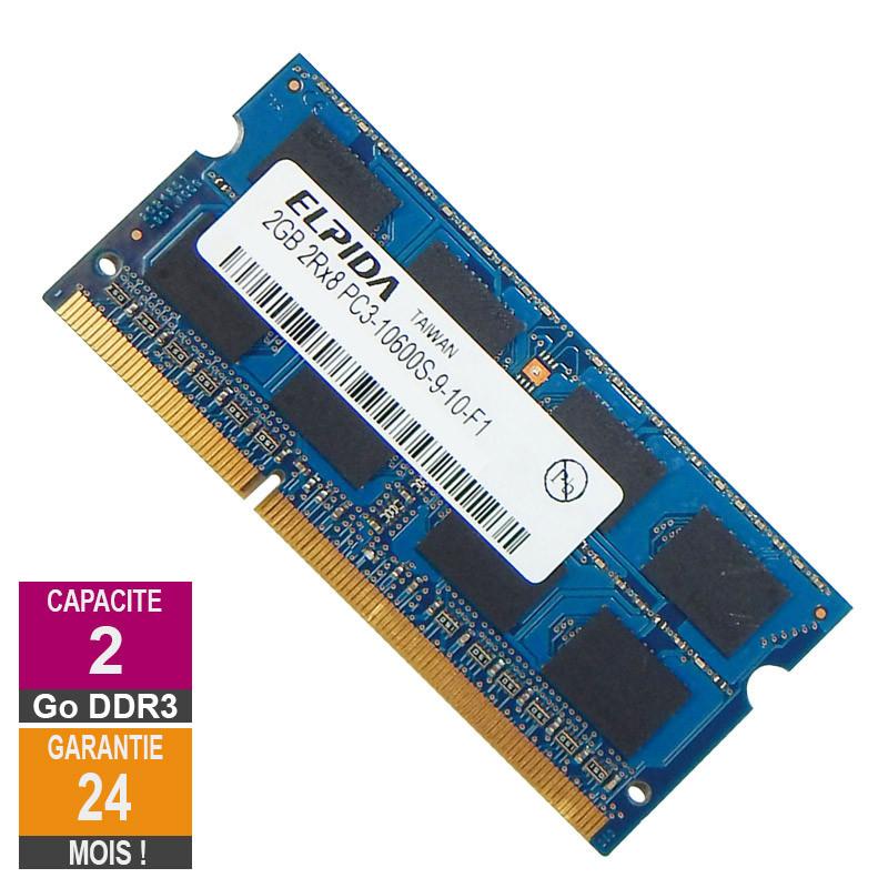 Barrette Mémoire 2Go RAM DDR3 Elpida...