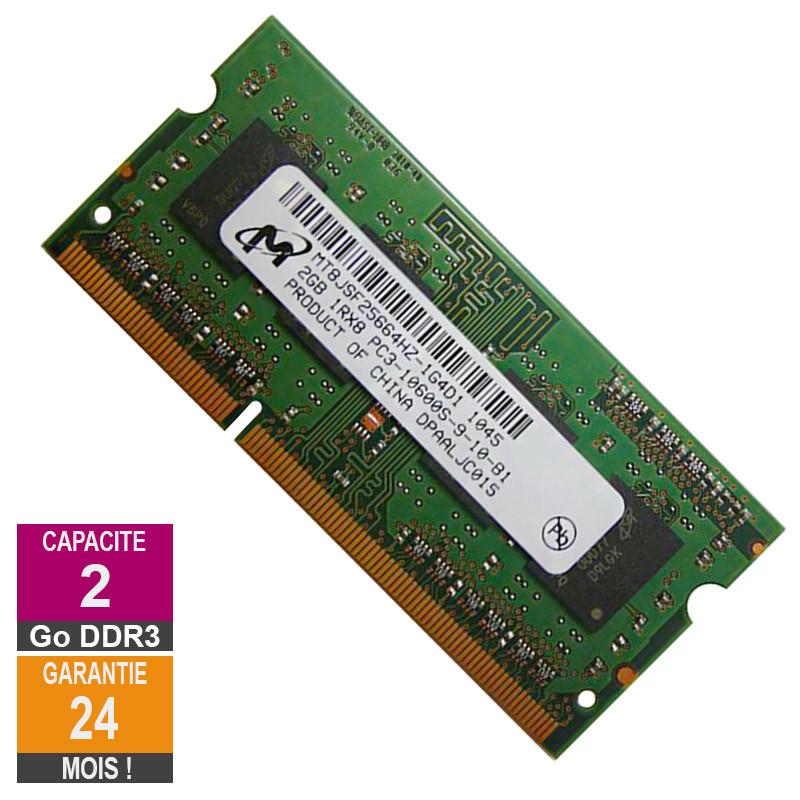 Barrette Mémoire 2Go RAM DDR3 Micron...