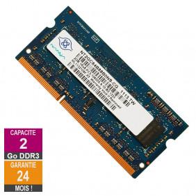 Barrette Mémoire 2Go RAM DDR3 Nanya NT2GC64B88B0NS-CG SO-DIMM PC3-10600 1333MHz 1Rx8