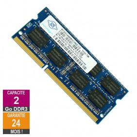 Barrette Mémoire 2Go RAM DDR3 Nanya NT2GC64B8HC0NS-CG SO-DIMM PC3-10600 1333MHz 2Rx8