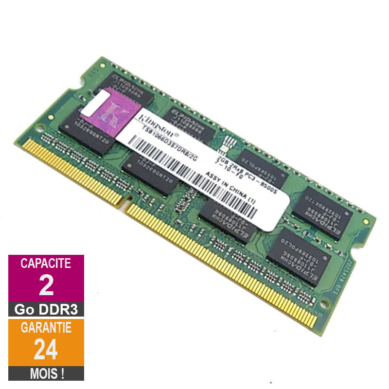 RAM Memory 2GB DDR3 Kingston...