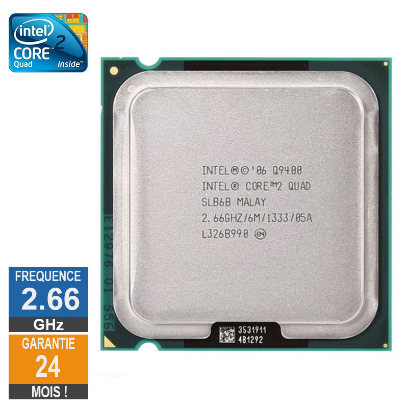 CPU Intel Core 2 Quad Q9400 2.66GHz...